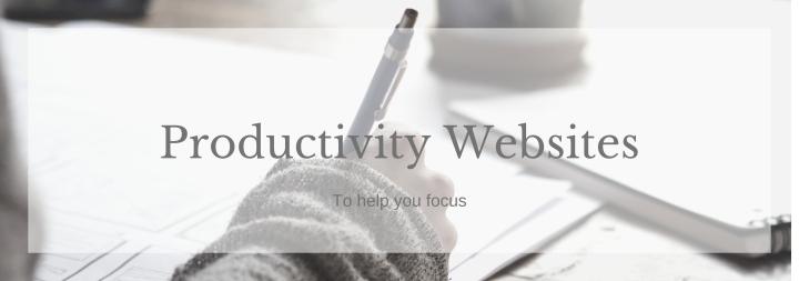 Productivity Websites