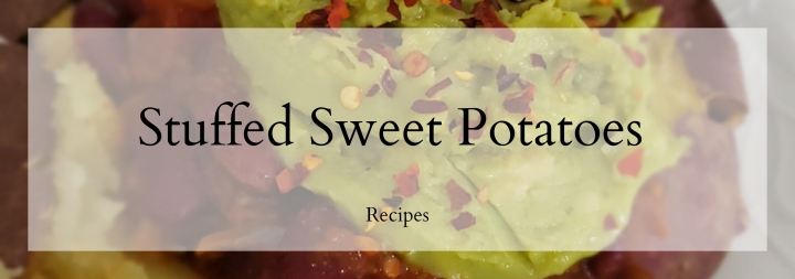 Baked Bean Stuffed SweetPotatoes