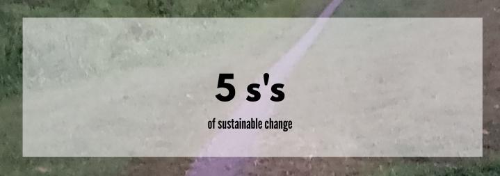 5 S's to SustainableChange