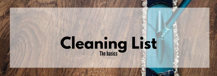 Basic Cleaning List