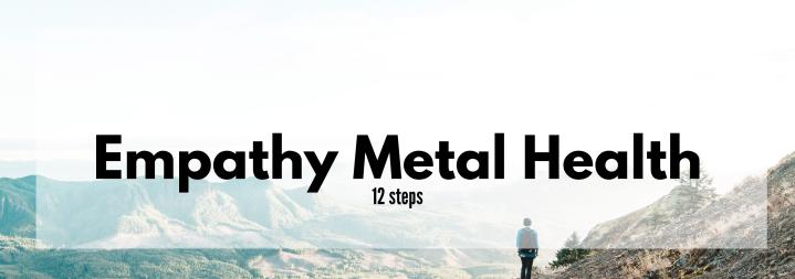12 Steps of Mental Self Care forEmpaths